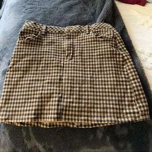 Kendal and Kylie plaid skirt